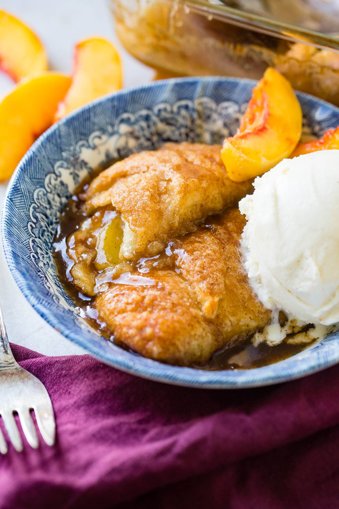 Peach Dumplings With Crescent Rolls