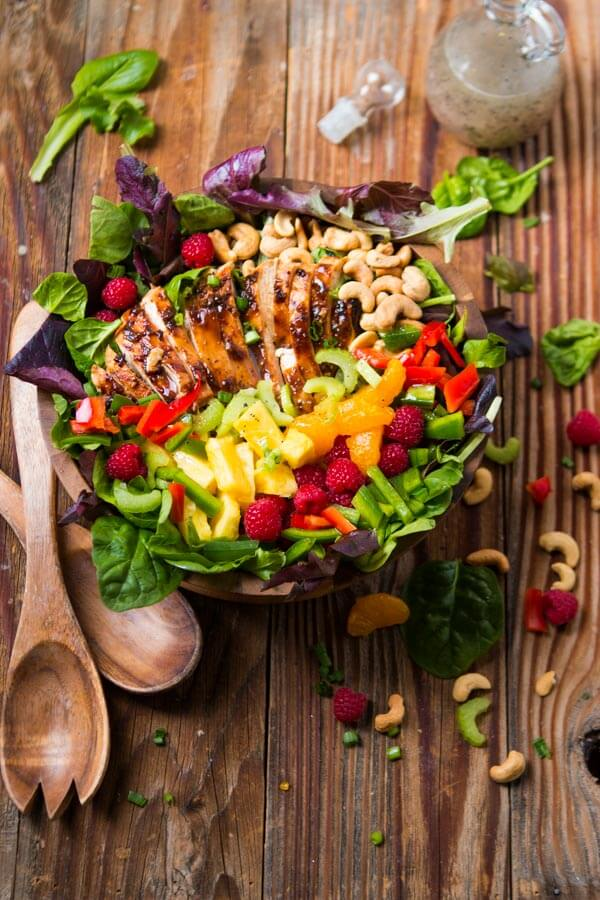 Teriyaki chicken isn't just for rice bowls. This salad is packed full of flavor! ohsweetbasil.com