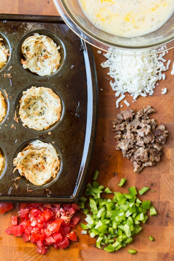 Skip the frozen foods aisle the next time you're at the grocery store and try these savory eggs in a nest instead. Perfect for the whole family! ohsweetbasil.com