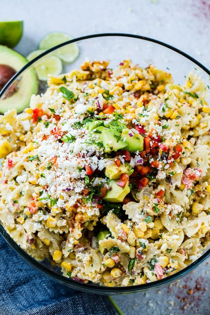 Elote Mexican Corn Pasta Salad