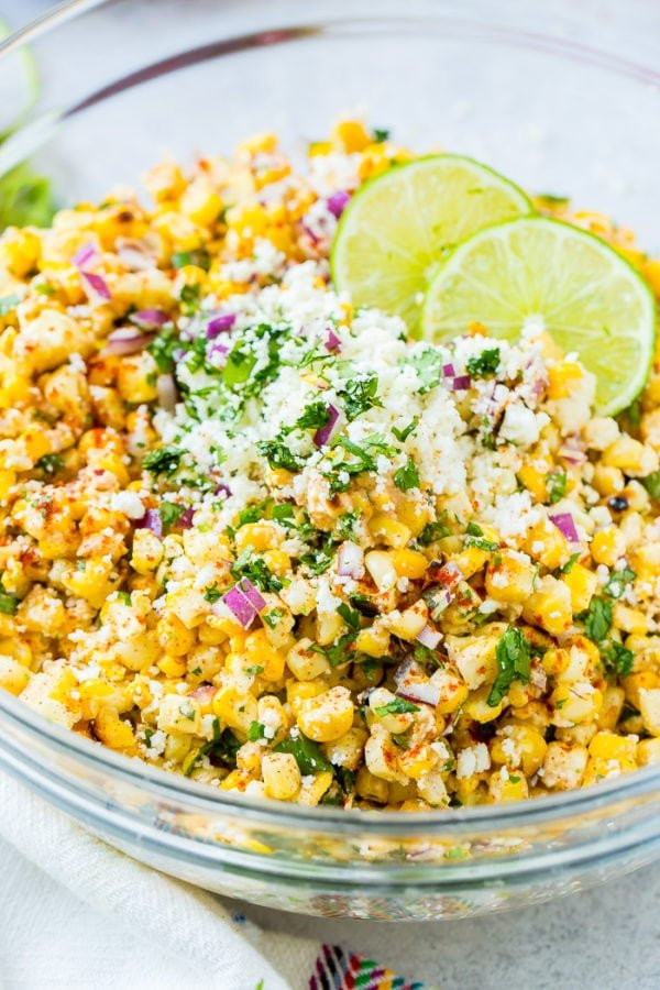 Elote Grilled Mexican Corn Salad - Oh Sweet Basil