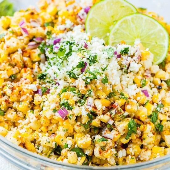 Elote Grilled Mexican Corn Salad