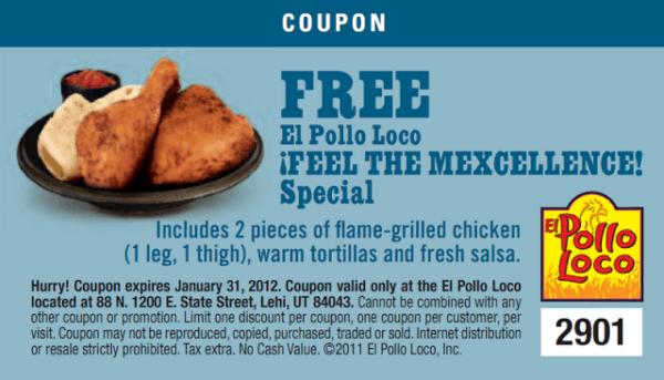 El pollo loco coupon code