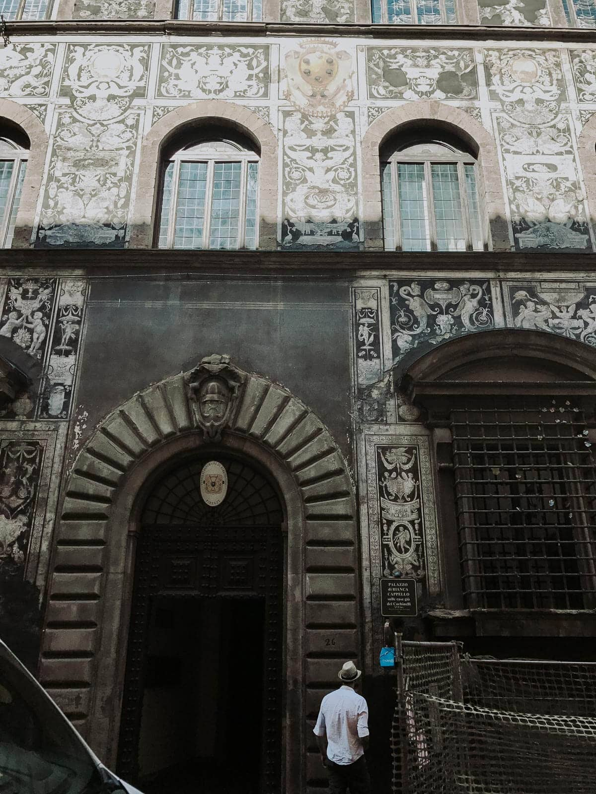 Facade Graffito Palazzo di Bianca Capello in Florence, Italy ohsweetbasil.com