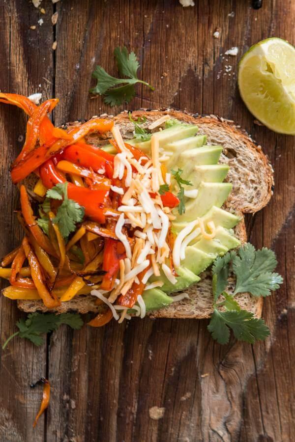 Fajita Avocado Toast ohsweetbasil.com