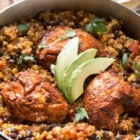 One skillet fiesta chicken and rice ohsweetbasil.com