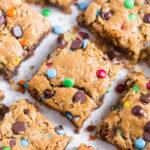 no flour monster cookie bars