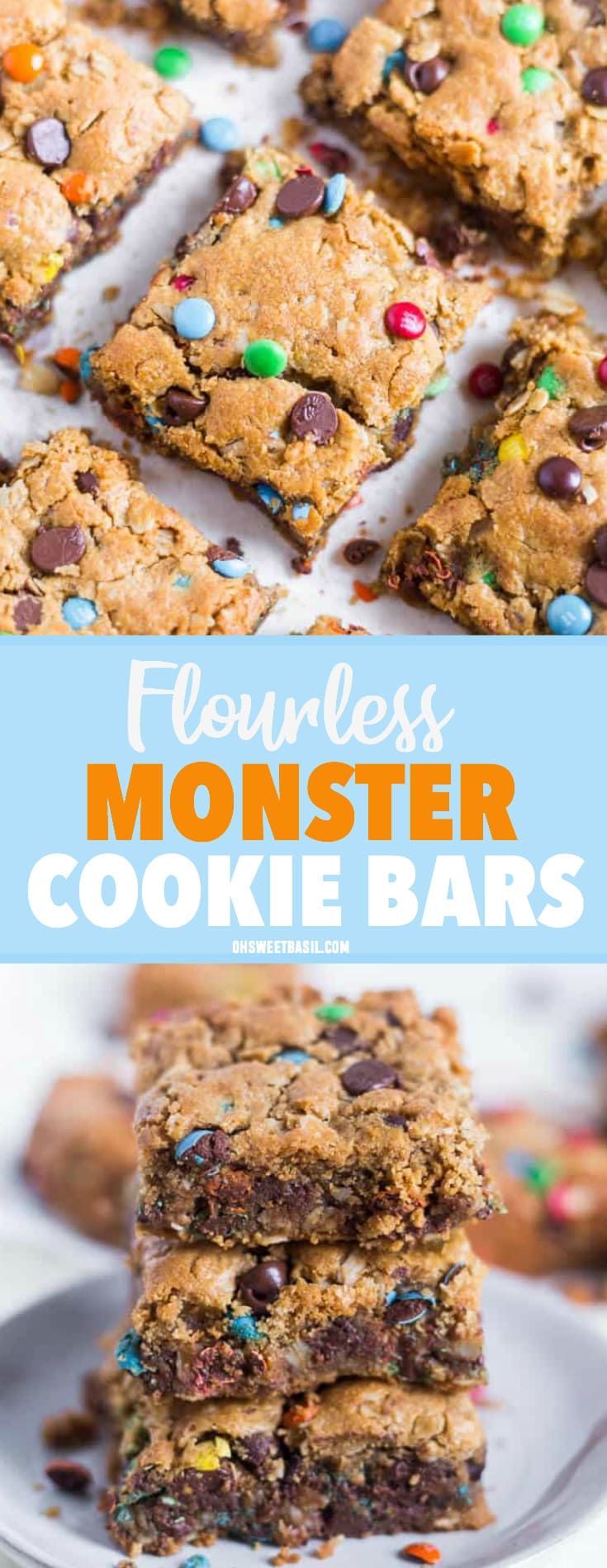 A batch of flourless monster cookie bars