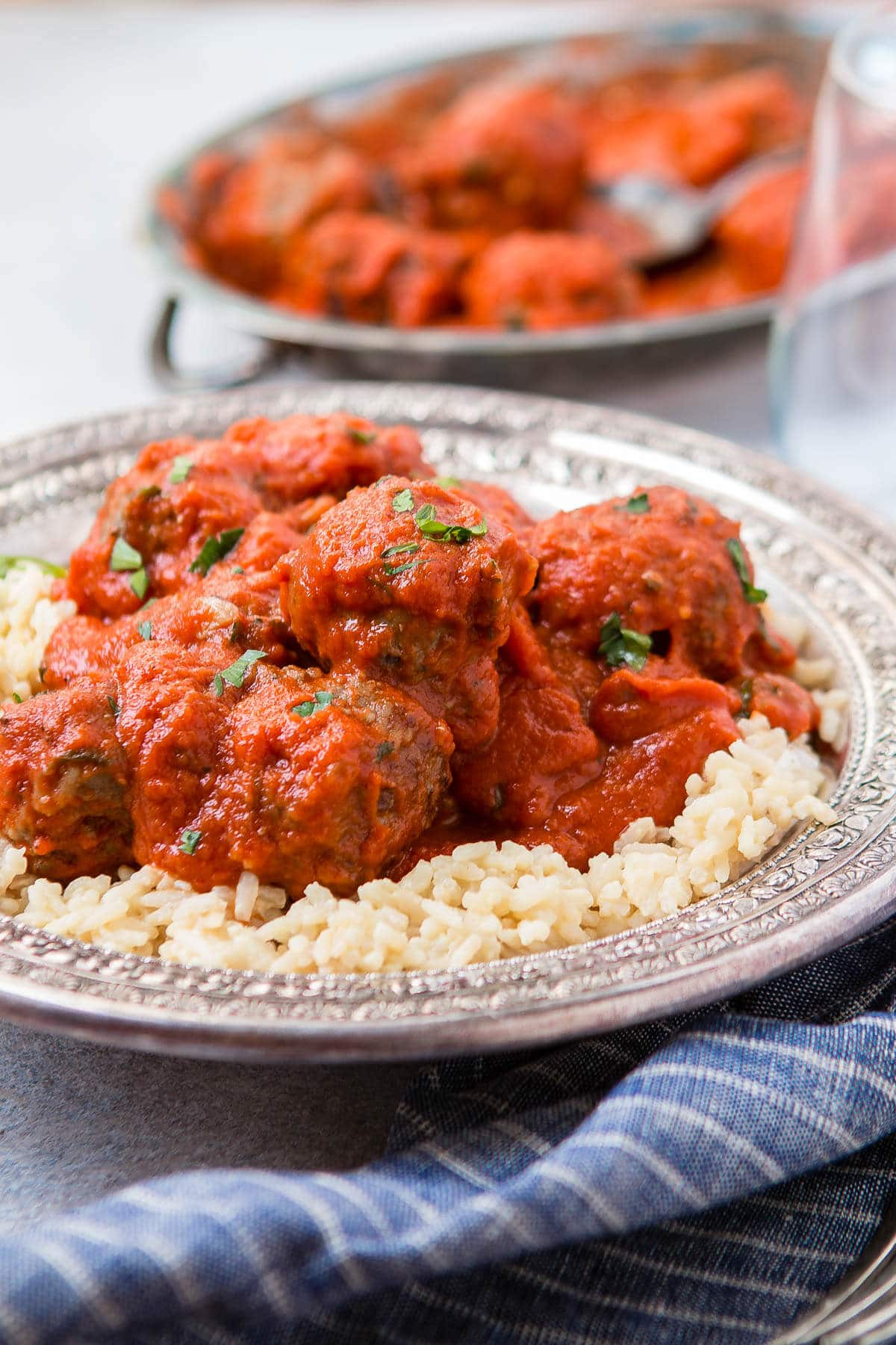 the best meatballs on bed of rice