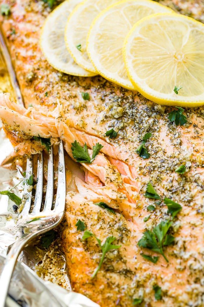 Easy Garlic Butter Salmon