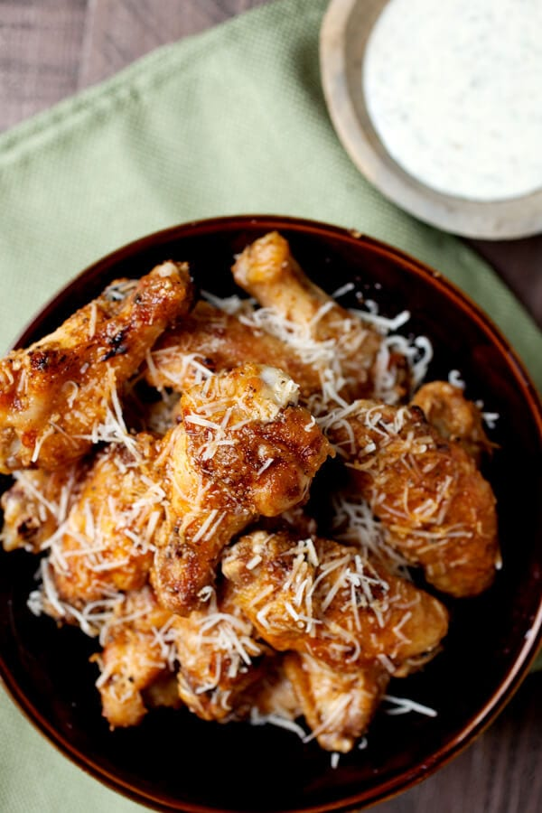 how to make parmesan wings