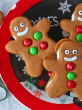 Gingerbread Men Cookies on a plate