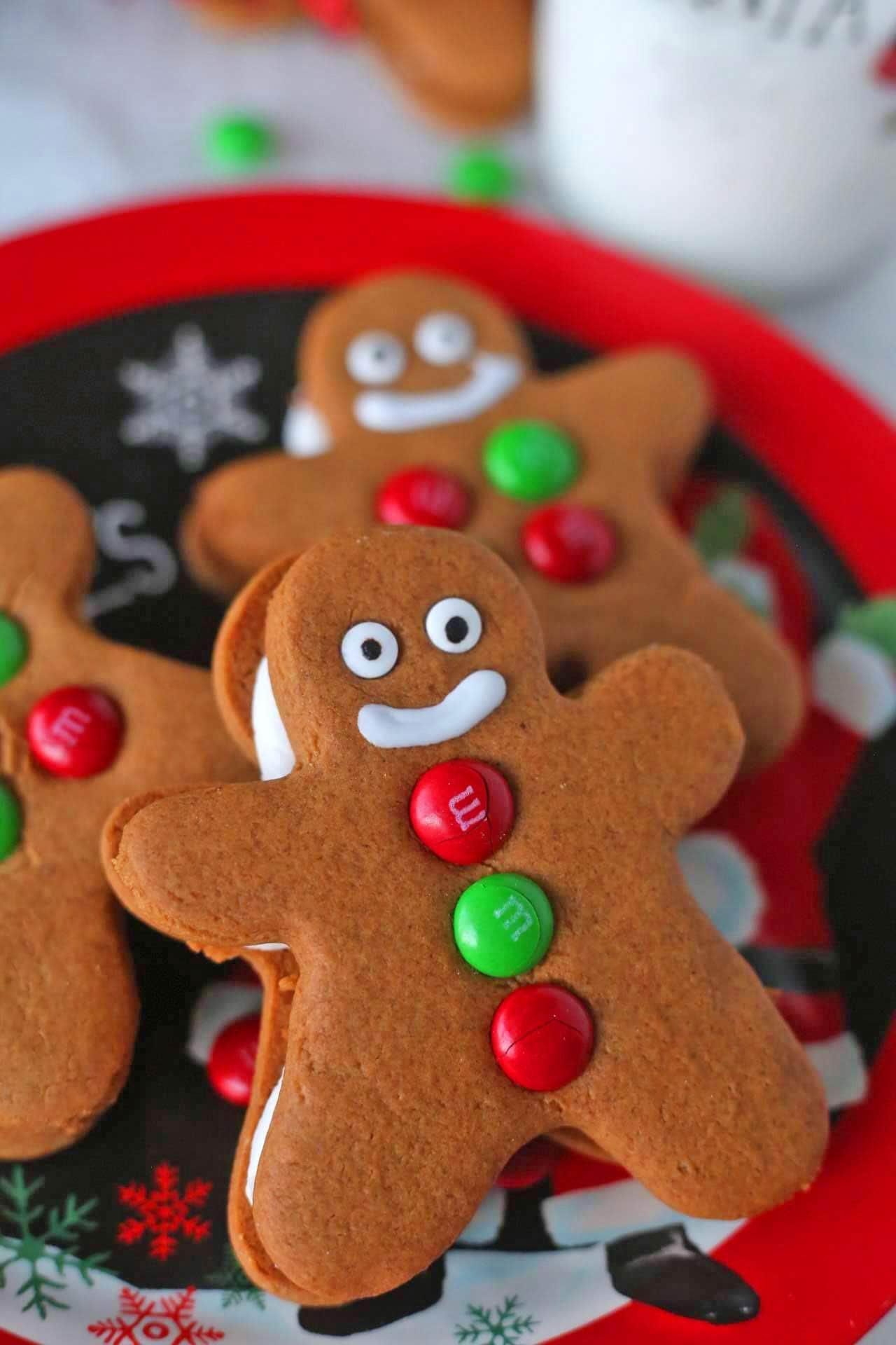 3D Standing Gingerbread Men Sugar Cookies - In the Kids
