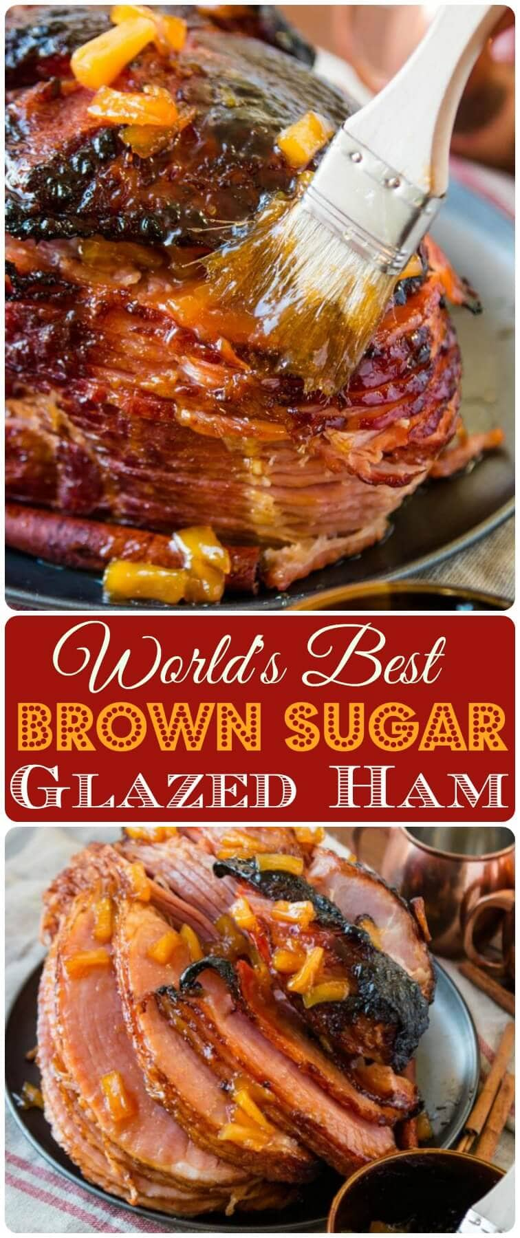 We've tried many a ham recipe, but this is probably the World's Best Brown Sugar Ham. The best part is, you can make it in the oven or slow cooker. ohsweetbasil.com