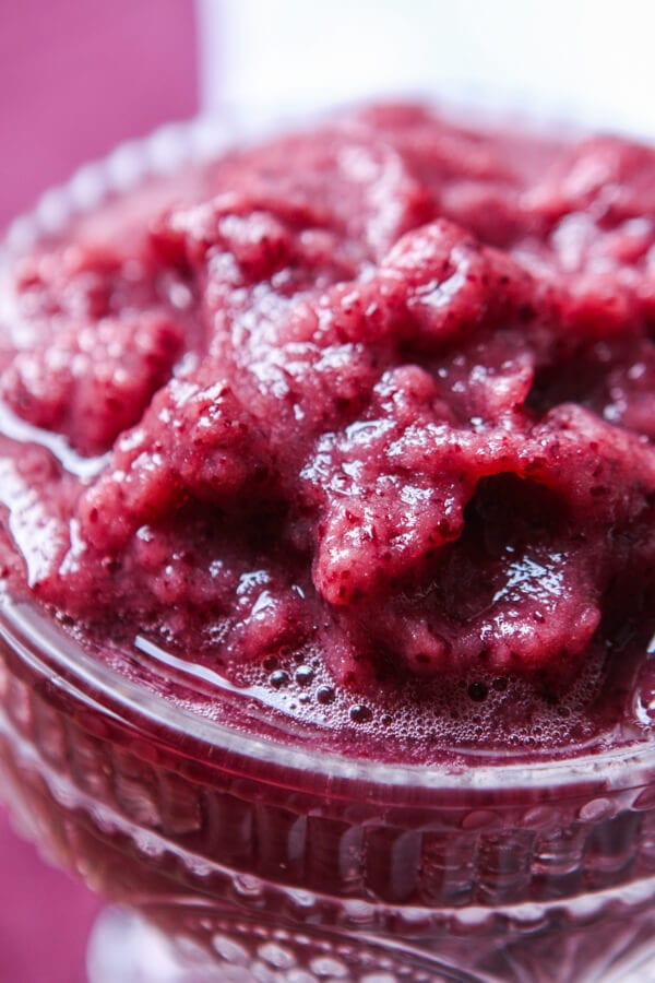 This is it, the recipe that will be more refreshing than lemonade and an easy way to not waste produce. Grape slushy for the win! ohsweetbasil.com paleo, Whole 30, gluten-free, dairy-free