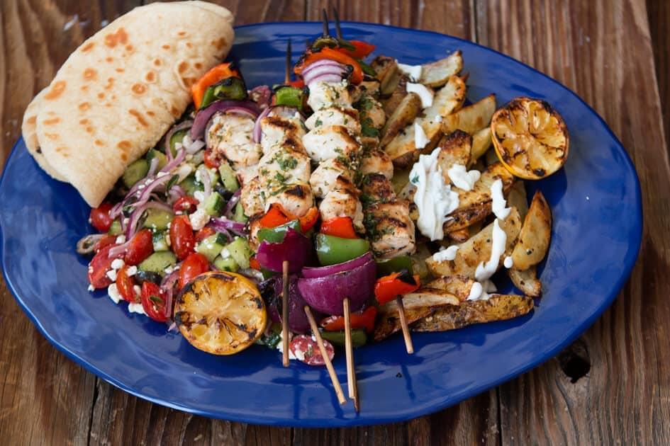Greek Chicken Souvlaki Oh Sweet Basil