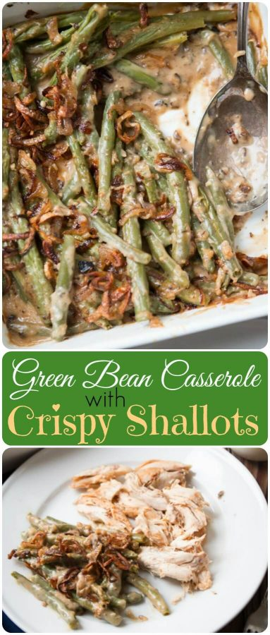 We all grew up on green bean casserole with cream of mushroom soup, but it's time to kick things up with Heritage Green Bean Casserole with Crispy Shallots.. ohsweetbasil.com