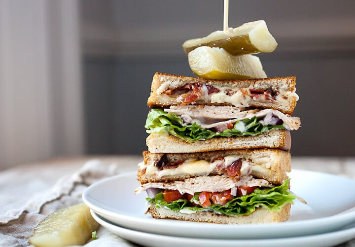 Grilled Cheese Club Sandwich It's that time of year again. In case your family is like ours and you want an extra special day we have a Father's Day Recipes Roundup to help!