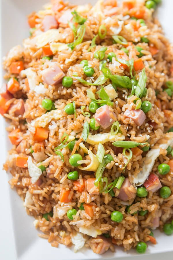 You don't have to even leave your kitchen to have restaurant worthy Chinese food. This is the secret to ham fried rice faux takeout style.