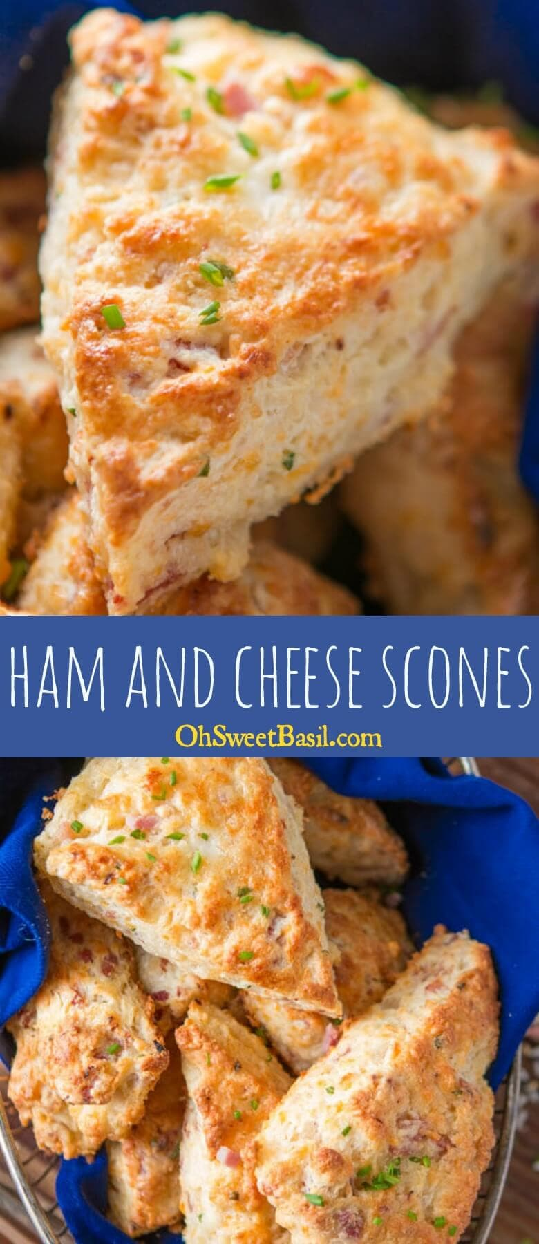 A few weeks ago I was making our apple pie scones and suddenly had the brilliant idea of making a savory version, easy ham and cheese scones!