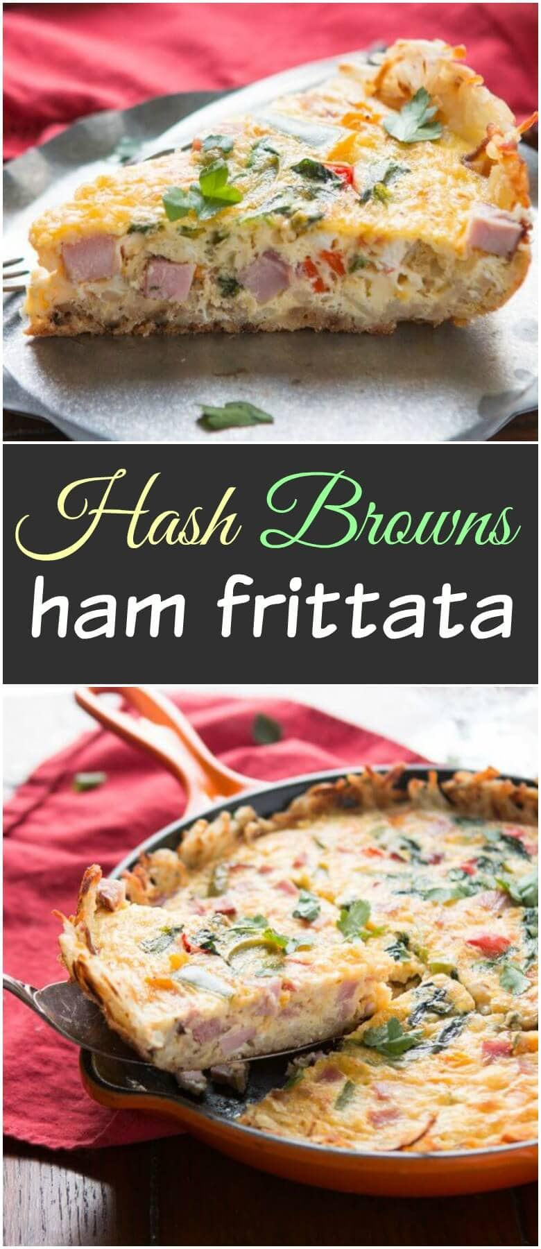 Golden hash browns make a great crust for this hash browns ham frittata! Serve as is or with hot sauce for a spicy little pop! low-carb