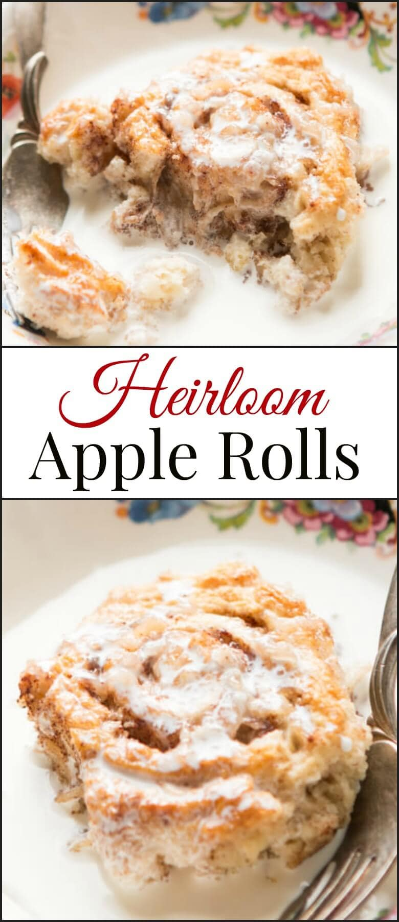 Heirloom apple rolls are one of my favorite recipes and it's been passed down through our family for over 200 years! ohsweetbasil.com