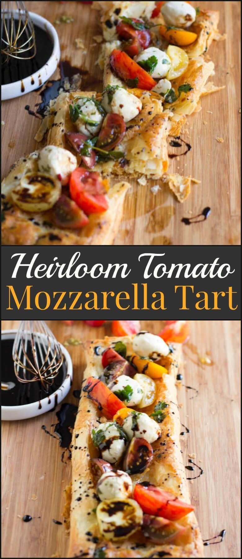 This heirloom tomato and mozzarella tart is so easy to make even the kids can help out. It looks gorgeous, tastes even better and is a no fuss recipe. ohsweetbasil.com