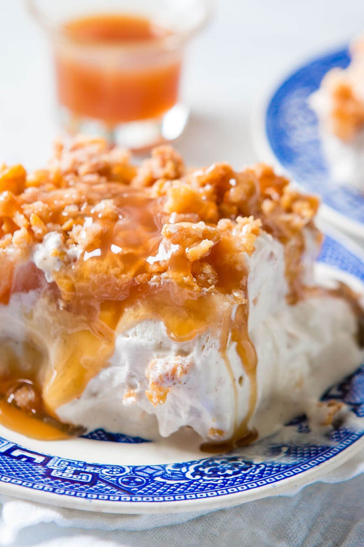 There's nothing that says fall like apple recipes. Our family's apple pie fried ice cream cake is based off of a fried ice cream cake recipe and you're going to love it! ohsweetbasil.com