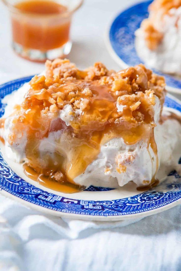 Apple Pie Fried Ice Cream Cake