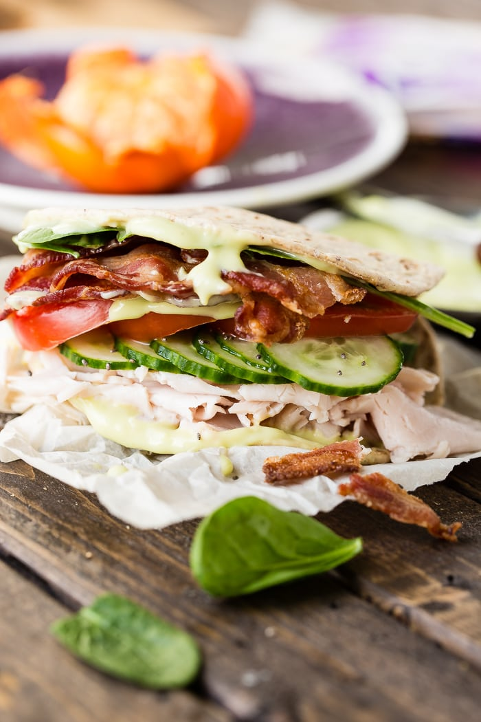 Honey Avocado Turkey Bacon Sandwiches Oh Sweet Basil