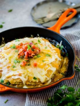 https://ohsweetbasil.com/one-skillet-enchilada-casserole-recipe/