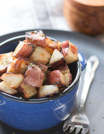 These honey roasted red potatoes are simple to die for! A simple note of sweetness with these tender red potatoes make for a delicious dish! ohsweetbasil.com