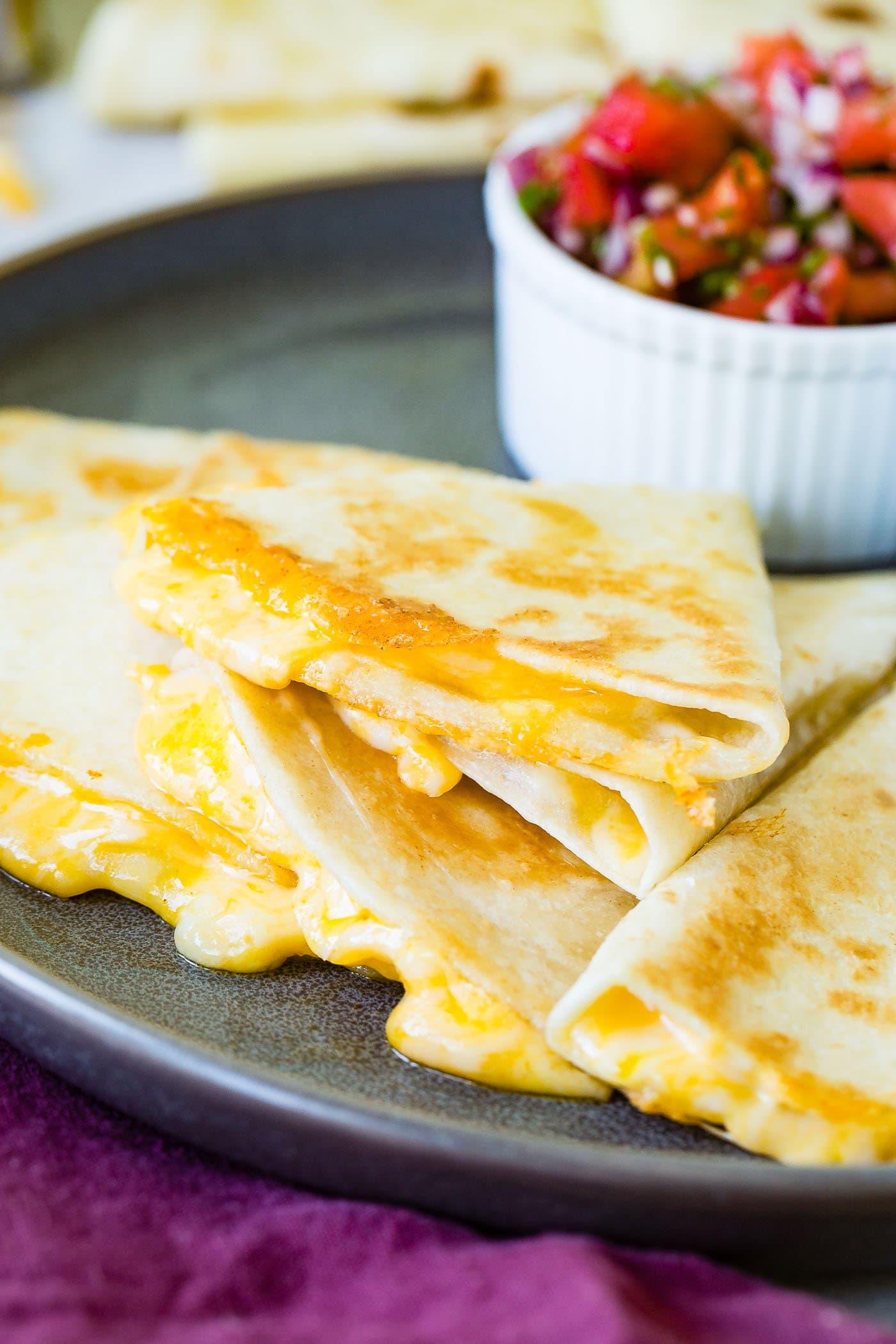 The BEST Quesadilla Recipe (Easy & Cheesy!) - Oh Sweet Basil