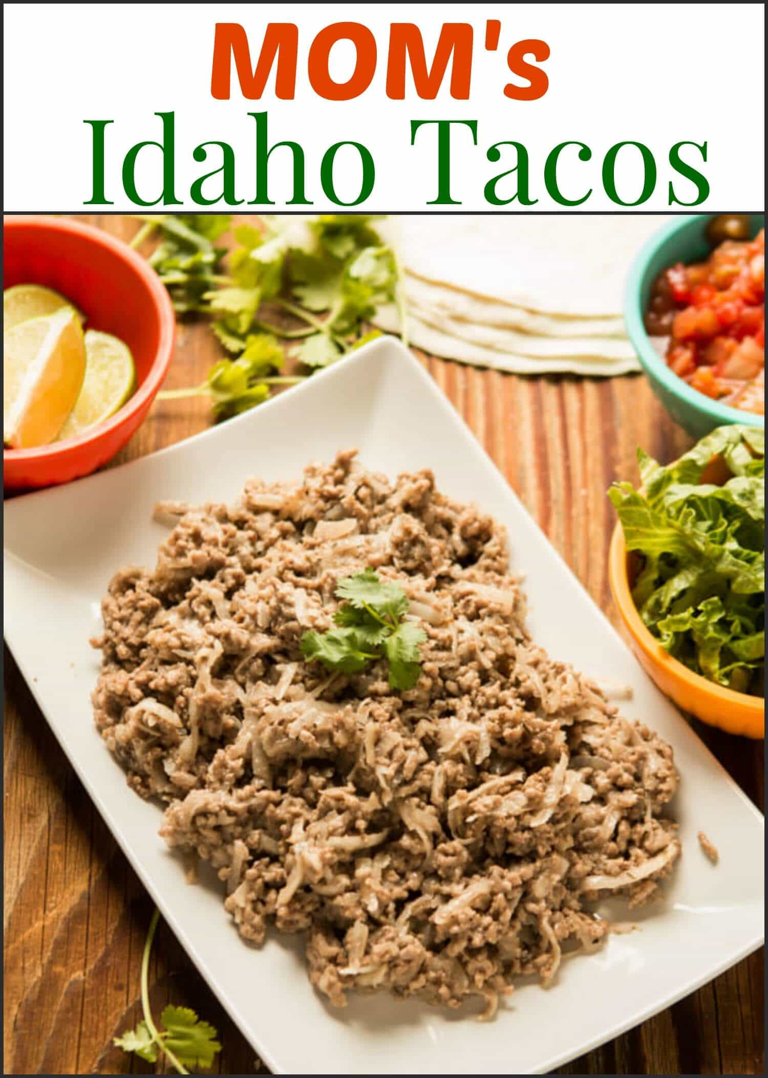 It's something you've never had, potatoes in your taco meat, but Mom's Idaho Tacos will totally win you over with how extra hearty and wonderful they are! ohsweetbasil.com