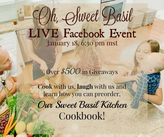 our sweet basil kitchen cookbook party! ohsweetbasil.com