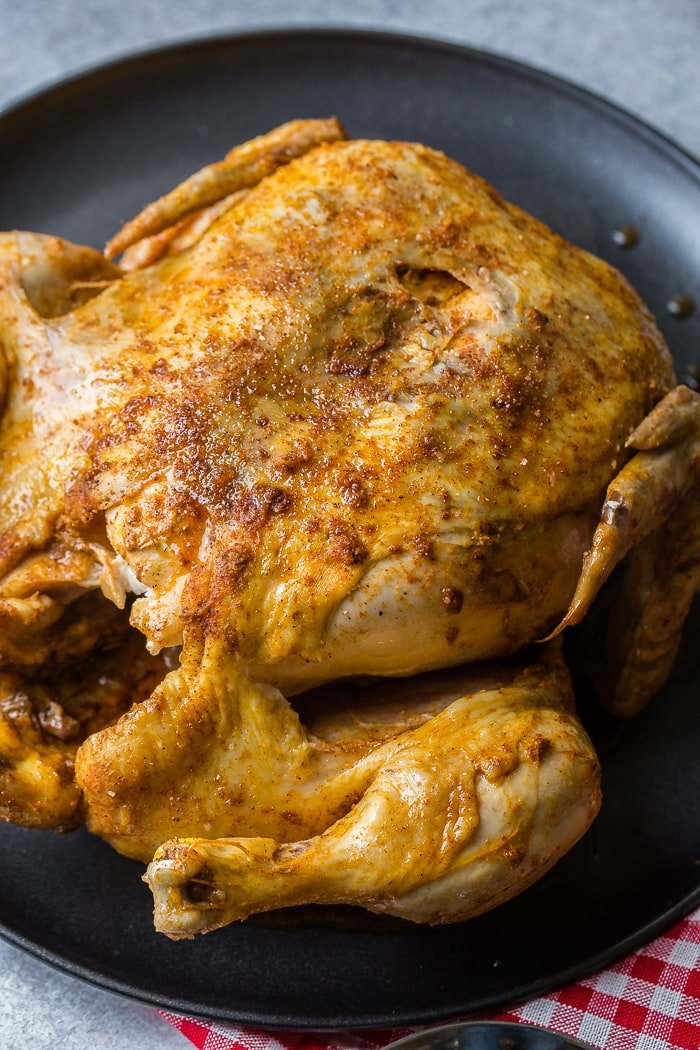 Bbq Instant Pot Whole Chicken Recipe Oh Sweet Basil