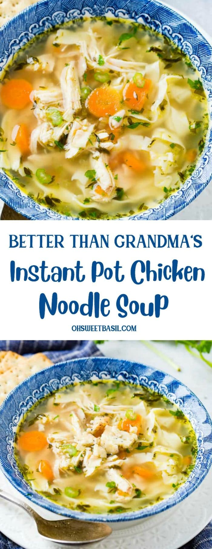 I mean, I don't know your Grandma or her soup, but after years of disappointing chicken noodle soups this Instant Pot Chicken Noodle Soup is worthy of the blog!
