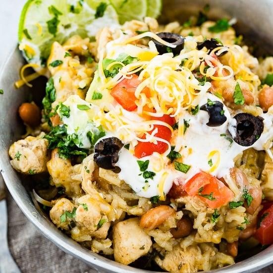 Instant Pot Cilantro Lime Chicken Burrito Bowl