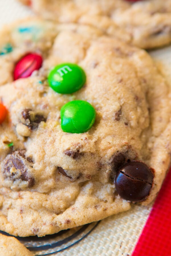 Kitchen Sink Cookies are everything you could ever want in a cookie, chocolate, raisins, oats, toffee, m&m's and heck a little more chocolate! ohsweetbasil.com