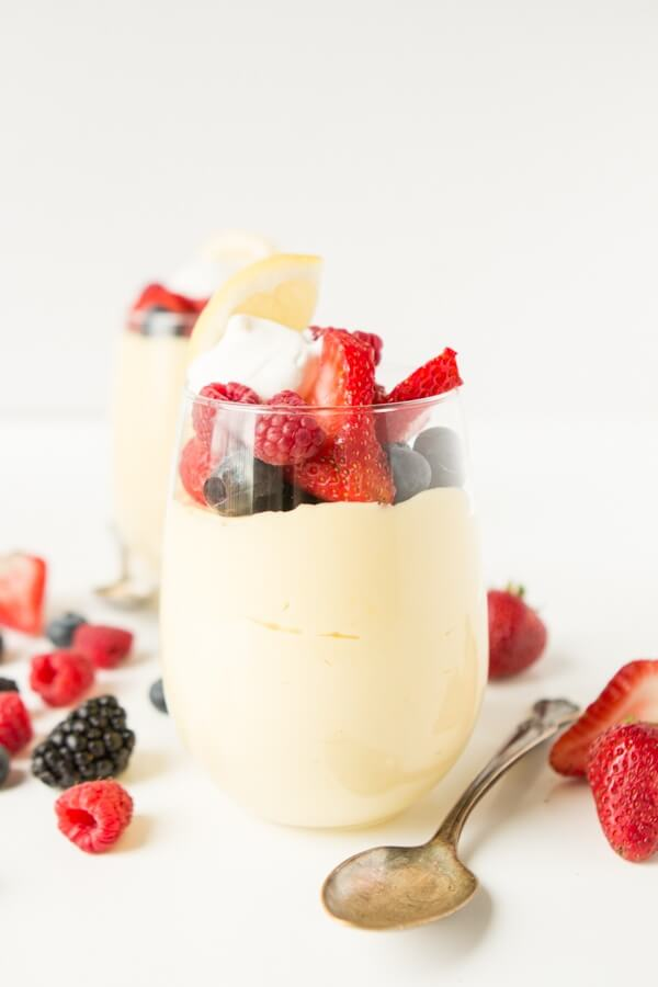 Lemon Cheesecake Mousse Cups - Oh Sweet Basil