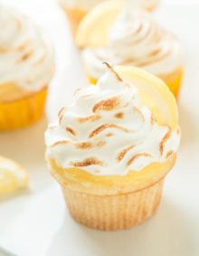 Lemon Meringue Cupcakes ohsweetbasil.com