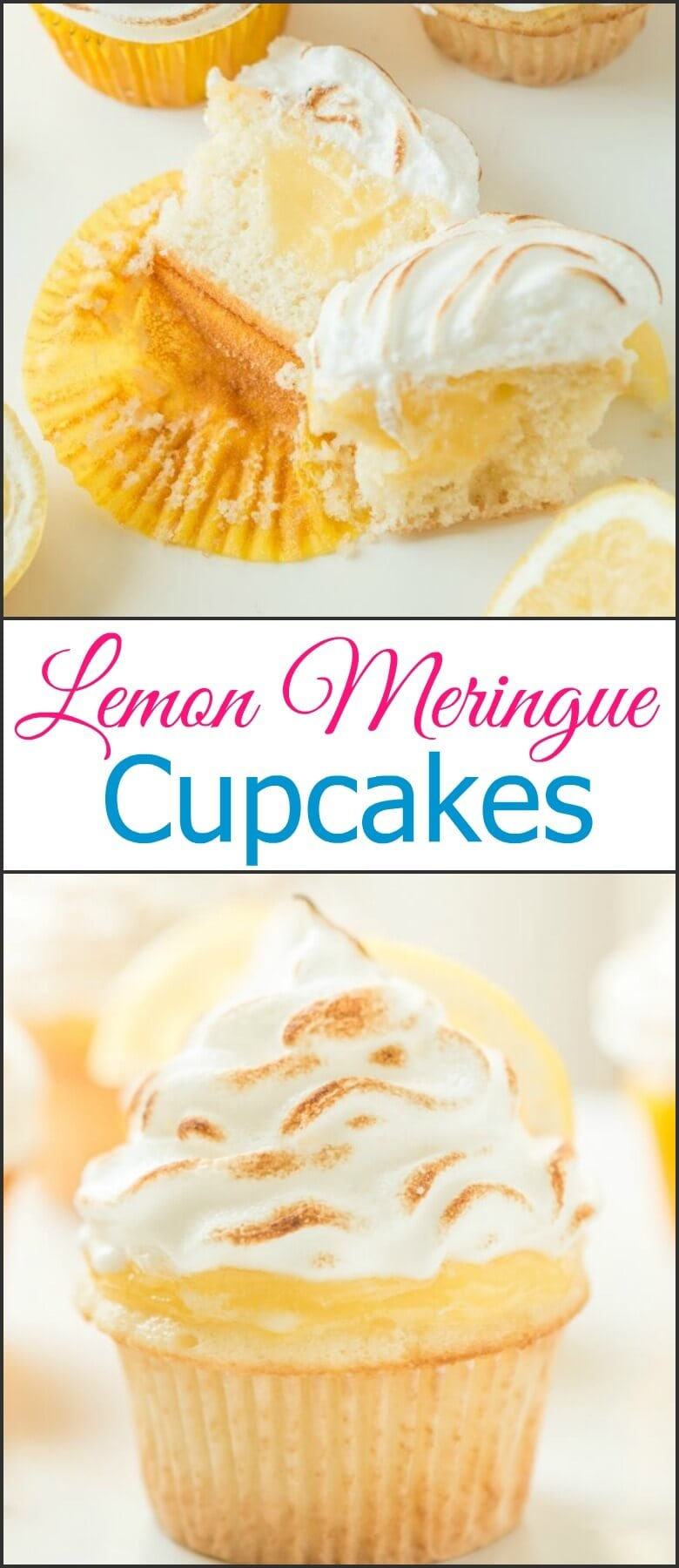 Is there anything in the world better than lemon flavor during the summer? These lemon meringue cupcakes scream sunshine! ohsweetbasil.com
