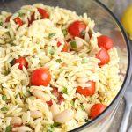 Lemon Orzo Pasta Salad