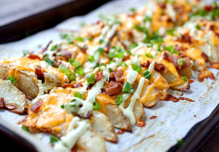 loaded potatoes It's that time of year again. In case your family is like ours and you want an extra special day we have a Father's Day Recipes Roundup to help!