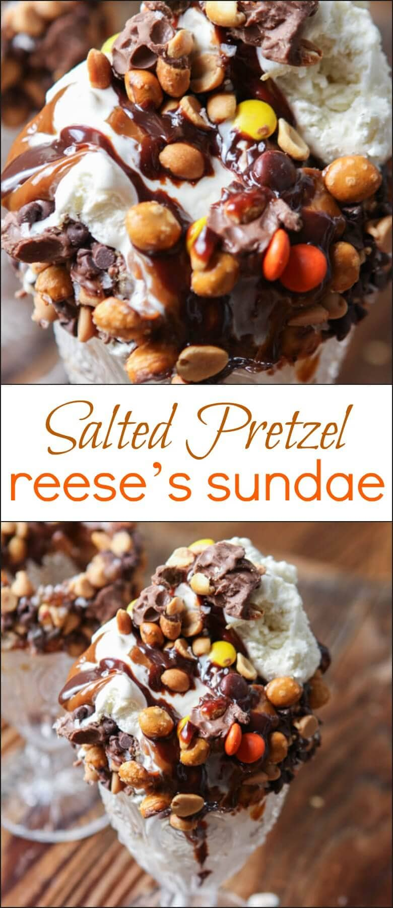 The world is currently obsessing over those huge, loaded sundaes and we can totally get on board. Check out our Loaded Salted Pretzel Reese's Sundae!