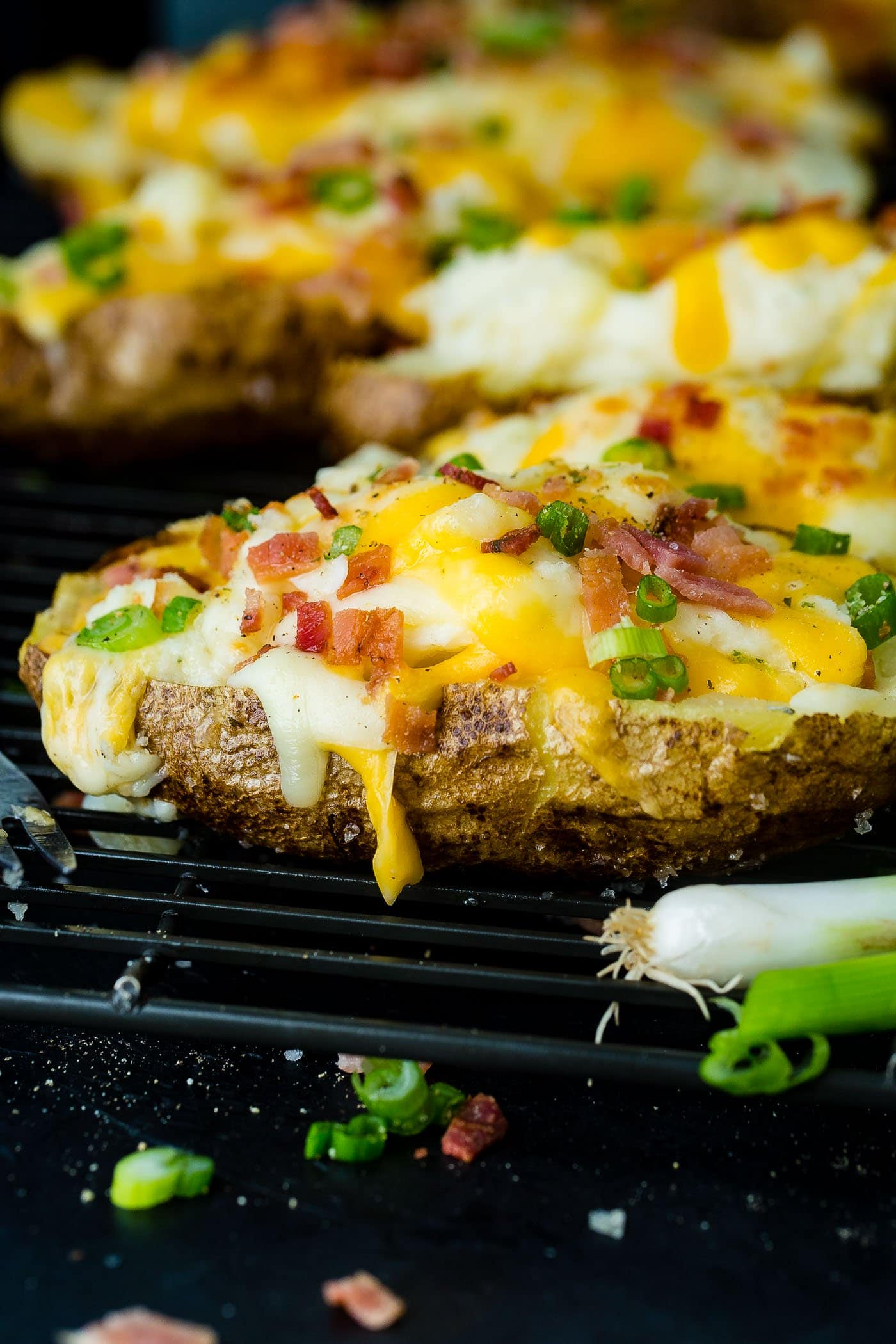 Loaded Twice Baked Potatoes Recipe Oh Sweet Basil