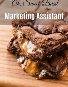 work for oh sweet basil as our marketing assistant!