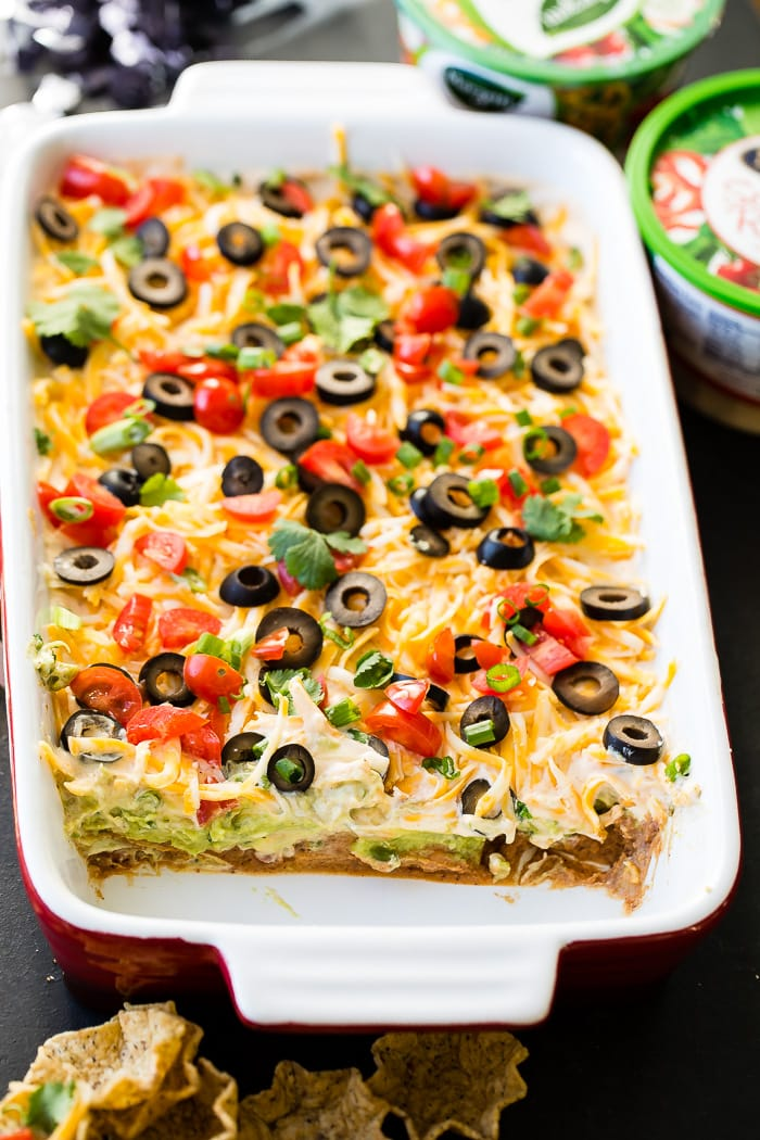 Looking to make a better Mexican 7 layer dip than anyone else? Us too and we've got a secret in one layer that you'll love!! ohsweetbasil.com
