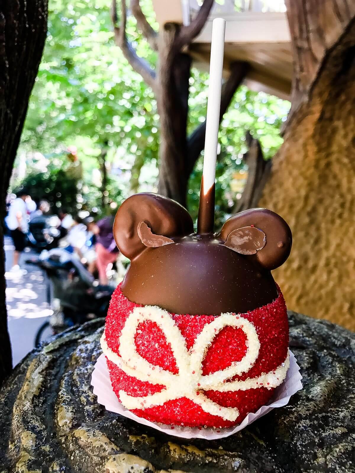 Mickey Mouse Caramel Apple Poohs Corner ohsweetbasil.com