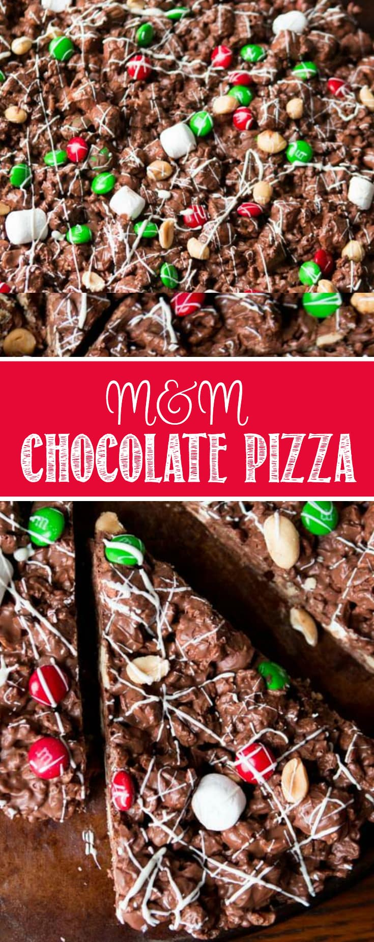 There's an amazing air about the holidays, but it's also too busy. This year choose to cut out the crazy and make this quick and easy m&m chocolate pizza.